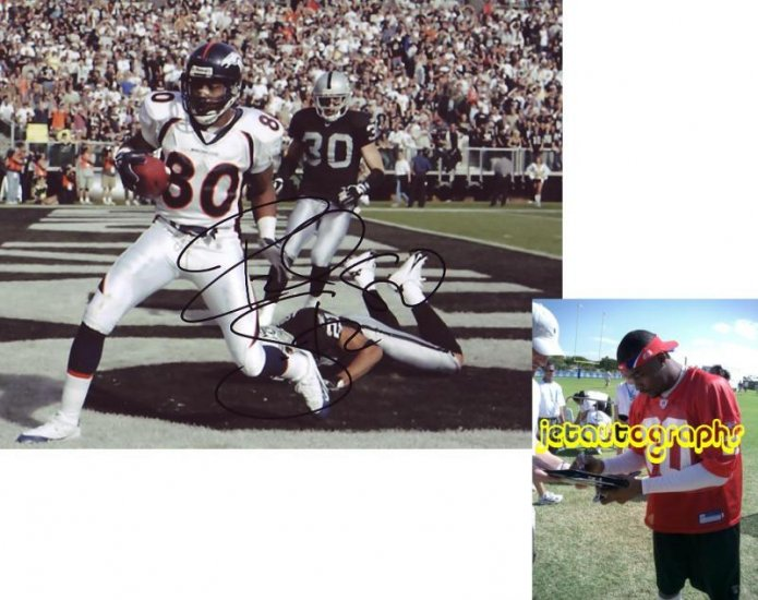 ROD SMITH SIGNED BRONCOS 8X10 PHOTO PIC PROOF SIGNING