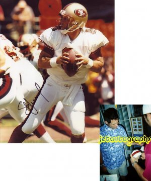 STEVE YOUNG SIGNED 49ERS 8X10 PHOTO PIC PROOF SIGNING