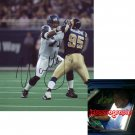 WALTER JONES SIGNED SEAHAWKS 8X10 PHOTO PIC PROOF SIGNING