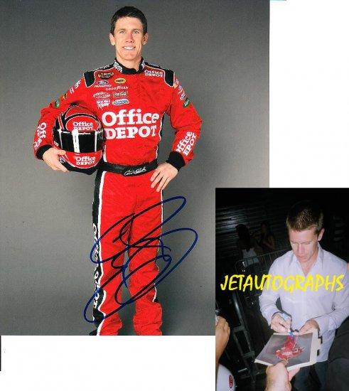 CARL EDWARDS SIGNED NASCAR 8X10 PHOTO PIC PROOF SIGNING
