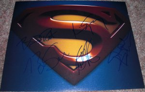 SUPERMAN RETURNS CAST SIGNED 11X14 LOGO PHOTO BY ROUTH SPACEY BOSWORTH BENDER SINGER PIC PROOF