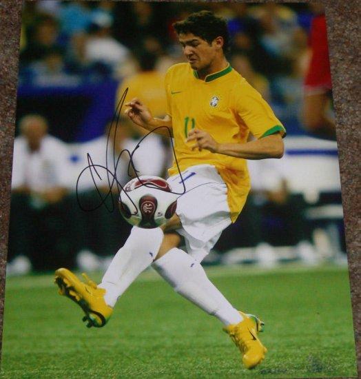 ALEXANDRE PATO  SIGNED BRAZIL BRASIL 11X14 PHOTO PIC PROOF
