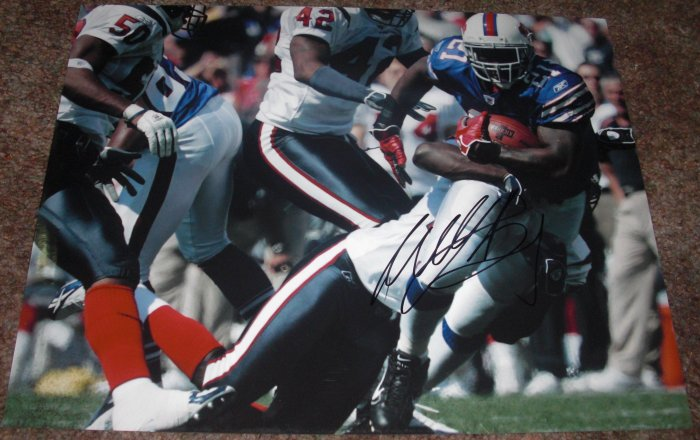 WILLIS McGAHEE SIGNED BILLS 11X14 PHOTO PIC PROOF RAVENS