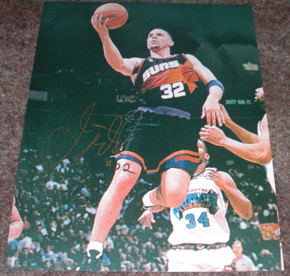 JASON KIDD SIGNED SUNS 11X14 PHOTO PIC PROOF MAVERICKS