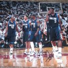 JOSH HOWARD JERRY STACKHOUSE JASON TERRY DEVIN HARRIS SIGNED MAVERICKS 11X14 PHOTO PIC PROOF
