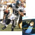 SENECA WALLACE SIGNED SEAHAWKS 8X10 PHOTO PIC PROOF