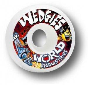 """WORLD INDUSTRIES """"WEDGIES"""" WHEELS - 52mm"""