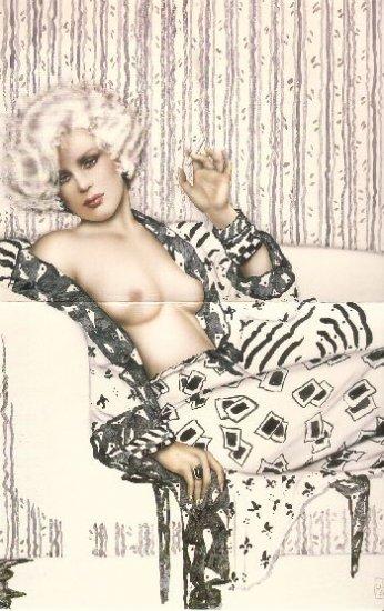 "Olivia de Berardinis O Card ""Boulevard Vamp"" Pin-up Notecard with Envelope"