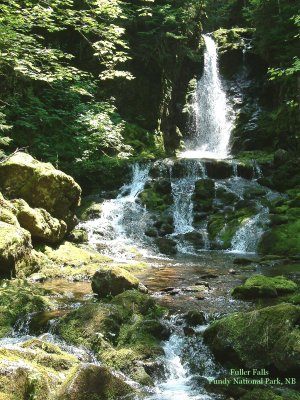 Fuller Falls, Fundy National Park, New Brunswick, CA 01