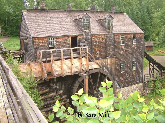 Saw Mill, Kings Landing, New Brunswick, Canada