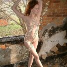 Hot Redhead Stripper in the burned out farmhouse  04