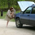 """Beautiful Hot Redhead and """"her broken down jeep"""""""