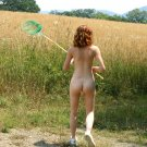 "Hot naked redhead ..""I want that big blue swallow tail"""
