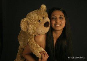 Hot Asian Babe & her teddie!