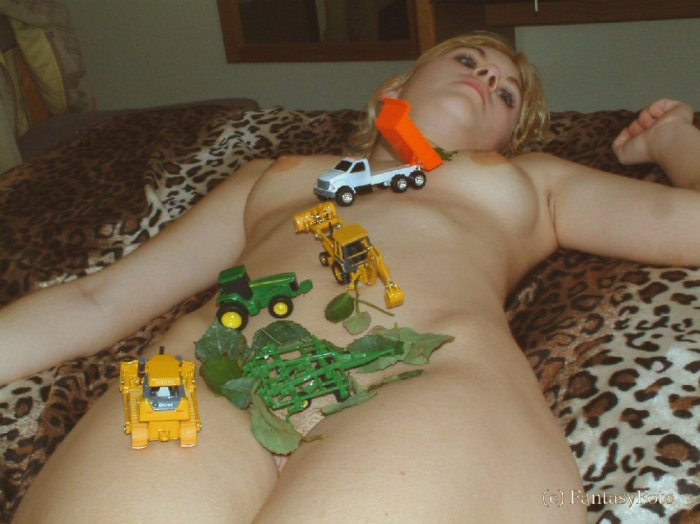 Hot naked blond nude posing... digital, Screensaver, print
