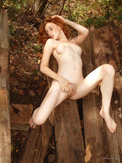 Hot naked Red Head nude posing... digital, Screensaver, print