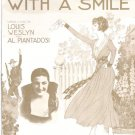 Send Me Away With A Smile 1917 Piano Sheet Music War Love Song Starmer Art