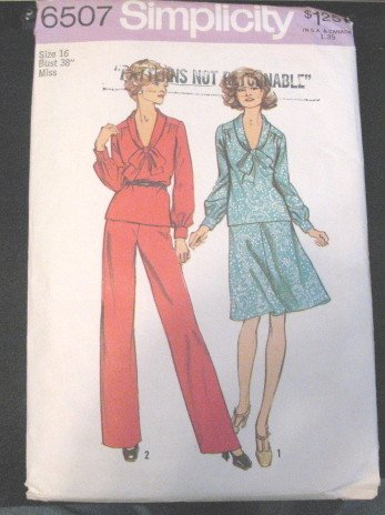 Simplicity Misses Pantsuit & 2 Piece Dress Size 16