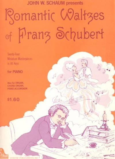 Romantic Waltzes of Franz Schubert Piano Organ Accordion