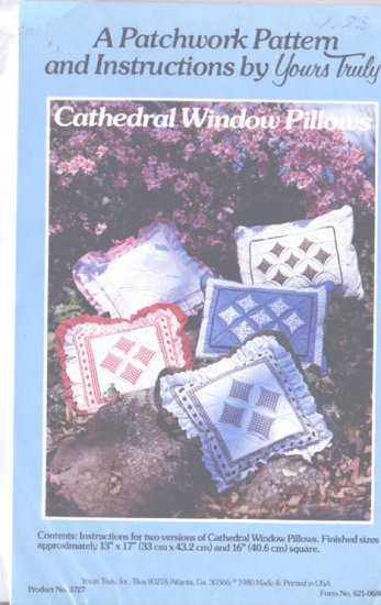 Patchwork Pattern Cathedral Windows Pillows from Yours Truly