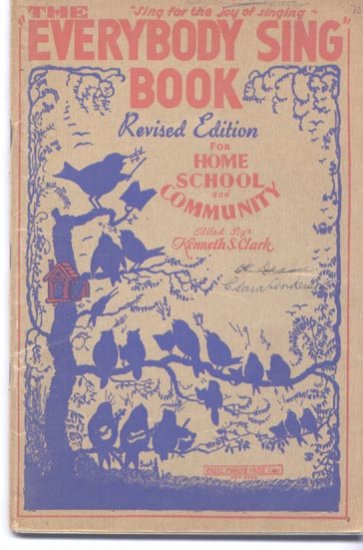 1935 Everybody Sing Book for Home School and Community