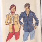 Butterick Mens 42 Shirt Jacket Pattern Uncut Womens Too