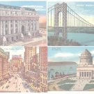 New York City New York 12 Postcards Buildings