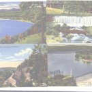 4 Linen Postcards Lake Taneycomo Missouri Ozarks