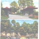 Linen Postcards Rockford IL Black Hawk Park Lagoon Entrance Unused