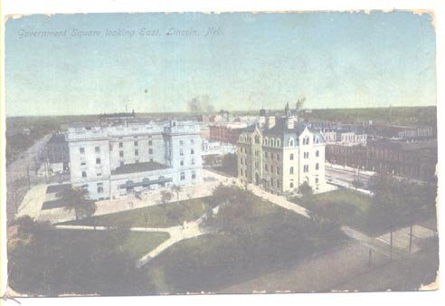 Lincoln Neb Government Square Looking East 1911