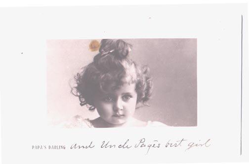 Ancestery Papa's Darling Rotograph Real Photograph