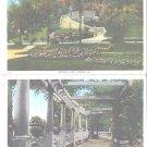 Bradley Park Peoria IL Illinois 2 Postcards Pompeian Garden