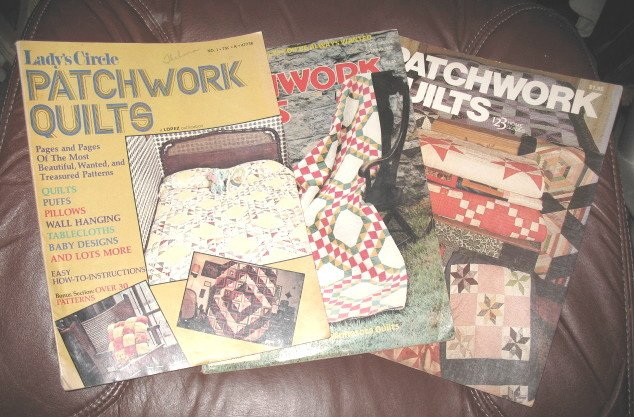 3 Quilting Magazines Patchwork Quilts 1970s