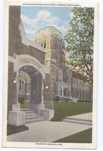 Kenrick Seminary Webster Groves MO Administration Bldg Postcard 1937