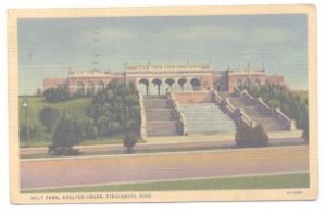 Ault Park Shelter House Cincinnati Ohio 1937 Postcard