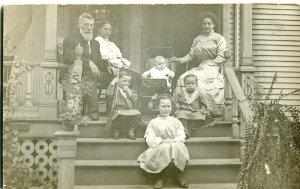 RPPC Cortez Colorado 1909 Pioneer Ranch Family Boy & Gun Kids