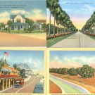 9 Vtg Linen Postcards Rio Grande Texas Brownsville Port Scene