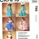McCalls Victorian Fancy Uncut Doll Clothes Pattern 1992
