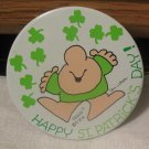 Ziggy Happy St Patrick's Day! American Greetings Pinback