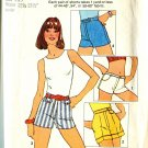 Simplicity 6946 One Yard Shorts Size 5 & 7 Junior Uncut 1975