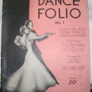 Feist 1937 Dance Folio No. 1 Popular Hits Piano Solo Guitar Chords