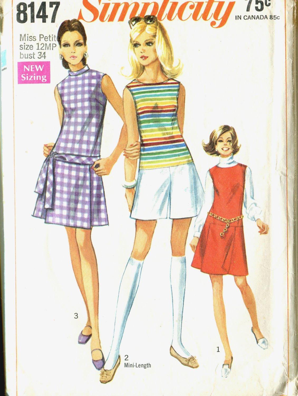 Simplicity 8147 Miss Size 14P Summer Pantdress Uncut