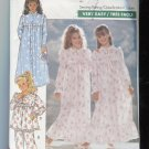 Butterick Girls Pattern 4410 Size 7-8-10 Nightgown Robe 1989