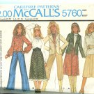 McCalls Pattern 5760 Unlined Jacket Blouse and Skirt Size 12 Uncut 1977