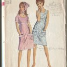 Simplicity 6513 Size 16 1966 Misses Casual Summer Dress & Scarf   Uncut