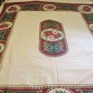 Holiday Tablecloth Poinsettias Holly 51 x 69