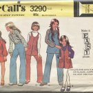 Girls Size 5 McCalls Pattern 3290 Make it Easy Dress Blouse Jumper Vest Pants