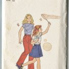 Butterick Girls Pattern 4674 Size 10 Top Skirt Pants