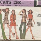 McCalls Pattern 3280 Misses Size 10 Jacket Top Pants Skirt for Unbonded Knits 1972