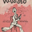 Sheet Music VO-DO-DE-O 1927 Torrid Tempo Uke Banjo Piano Voice
